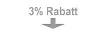 3% Rabatt