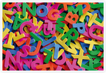 Designvorlage Buchstaben - Umschlag
