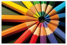 Designvorlage Farben - Umschlag