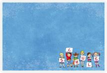 Designvorlage Schule_blau - Umschlag
