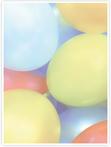 Designvorlage Luftballons - Innenseite links