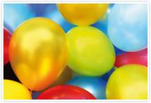 Designvorlage Luftballons - Umschlag