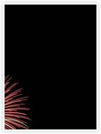 Designvorlage Feuerwerk - Innenseite links