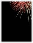 Designvorlage Feuerwerk - Innenseite rechts