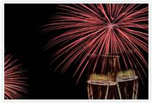 Designvorlage Feuerwerk - Umschlag