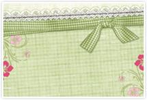 Designvorlage Schleife Grün - Umschlag