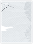 Designvorlage Hibiscus - Innenseite links