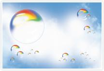Designvorlage Seifenblasen - Umschlag