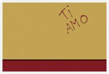 Designvorlage Ti Amo - Umschlag