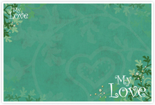 Designvorlage Liebe - Umschlag