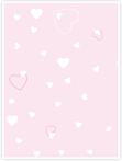 Designvorlage Herzchen rosa - Innenseite links