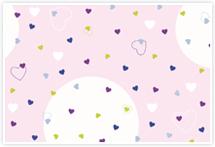 Designvorlage Herzchen rosa - Umschlag