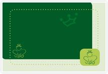Designvorlage Frosch - Umschlag