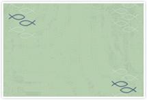 Designvorlage Fisch grün - Umschlag