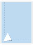 Designvorlage Maritim - Innenseite links