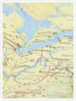 Designvorlage Landkarte New York - Innenseite links