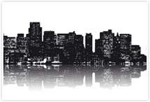 Designvorlage Skyline New York- Umschlag