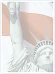 Designvorlage Freiheitsstatue New York- Innenseite rechts