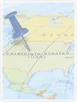 Designvorlage Landkarte USA - Innenseite rechts