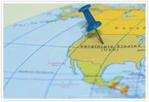 Designvorlage Landkarte USA - Umschlag