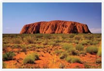 Designvorlage Australien_Ayers_Rock- Umschlag
