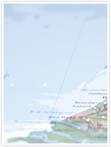 Designvorlage Landkarte Amsterdam - Innenseite links