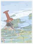 Designvorlage Landkarte Amsterdam - Innenseite rechts