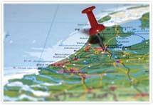 Designvorlage Landkarte Amsterdam - Umschlag
