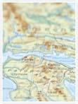 Designvorlage Landkarte Athen - Innenseite links