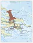 Designvorlage Landkarte Athen- Innenseite rechts