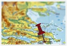 Designvorlage Landkarte Athen - Umschlag