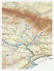 Designvorlage Landkarte Barcelona - Innenseite links