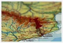 Designvorlage Landkarte Barcelona - Umschlag