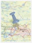 Designvorlage Landkarte Berlin - Innenseite rechts