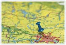 Designvorlage Landkarte Berlin- Umschlag