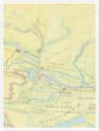 Designvorlage Landkarte Budapest - Innenseite links