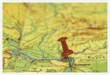 Designvorlage Landkarte Budapest- Umschlag