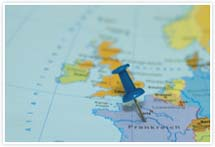 Designvorlage Landkarte Frankreich - Umschlag