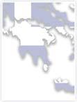 Designvorlage Landkarte Griechenland - Innenseite links