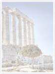 Designvorlage griechischer Tempel- Innenseite rechts