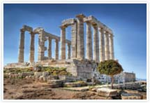 Designvorlage griechischer Tempel- Umschlag