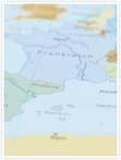 Designvorlage Landkarte Italien - Innenseite links