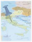 Designvorlage Landkarte Italien - Innenseite rechts