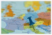 Designvorlage Landkarte Italien- Umschlag
