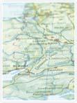 Designvorlage Landkarte London - Innenseite links