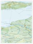 Designvorlage Landkarte Paris - Innenseite links