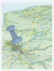 Designvorlage Landkarte Paris - Innenseite rechts