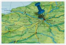 Designvorlage Landkarte Paris - Umschlag