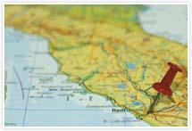 Designvorlage Landkarte Rom - Umschlag