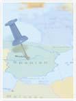 Designvorlage Spanien Landkarte - Innenseite rechts